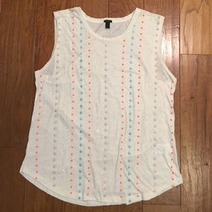 NWOT J. Crew sleeveless sequin tank Medium